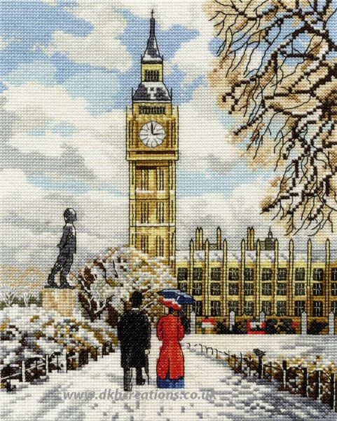 Houses Of Parliament Cross Stitch Kit